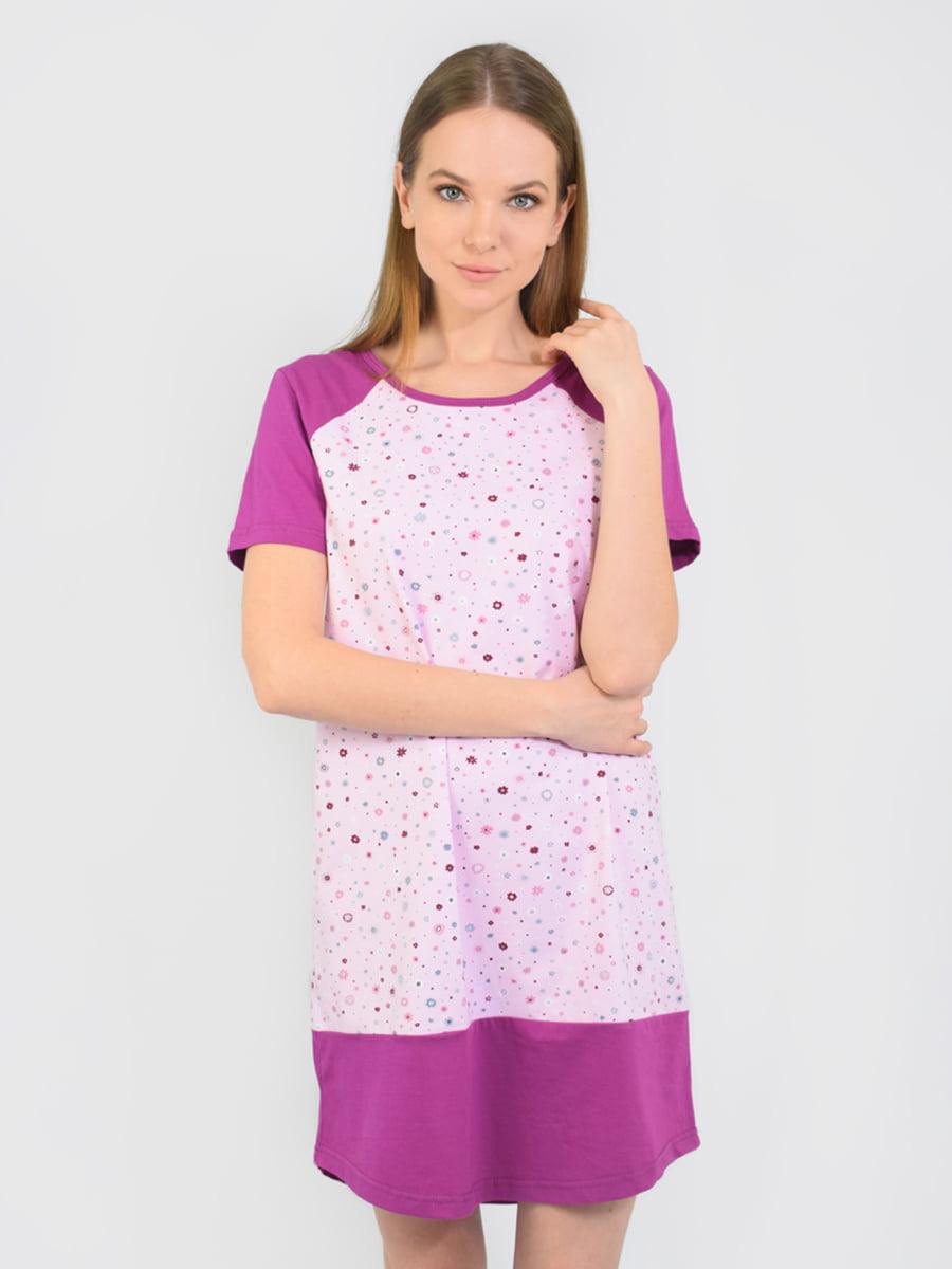 Сорочка нічна бузкового кольору | 5431274