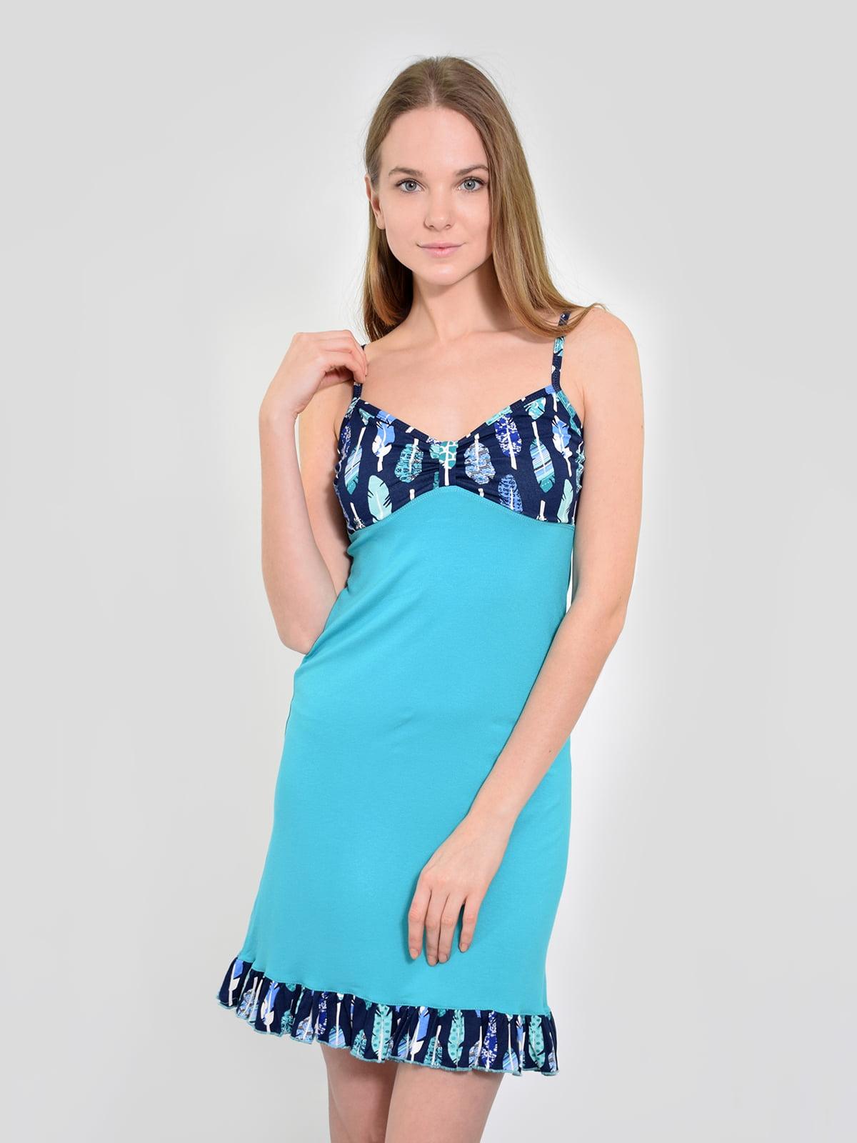 Сорочка нічна блакитна | 5431276