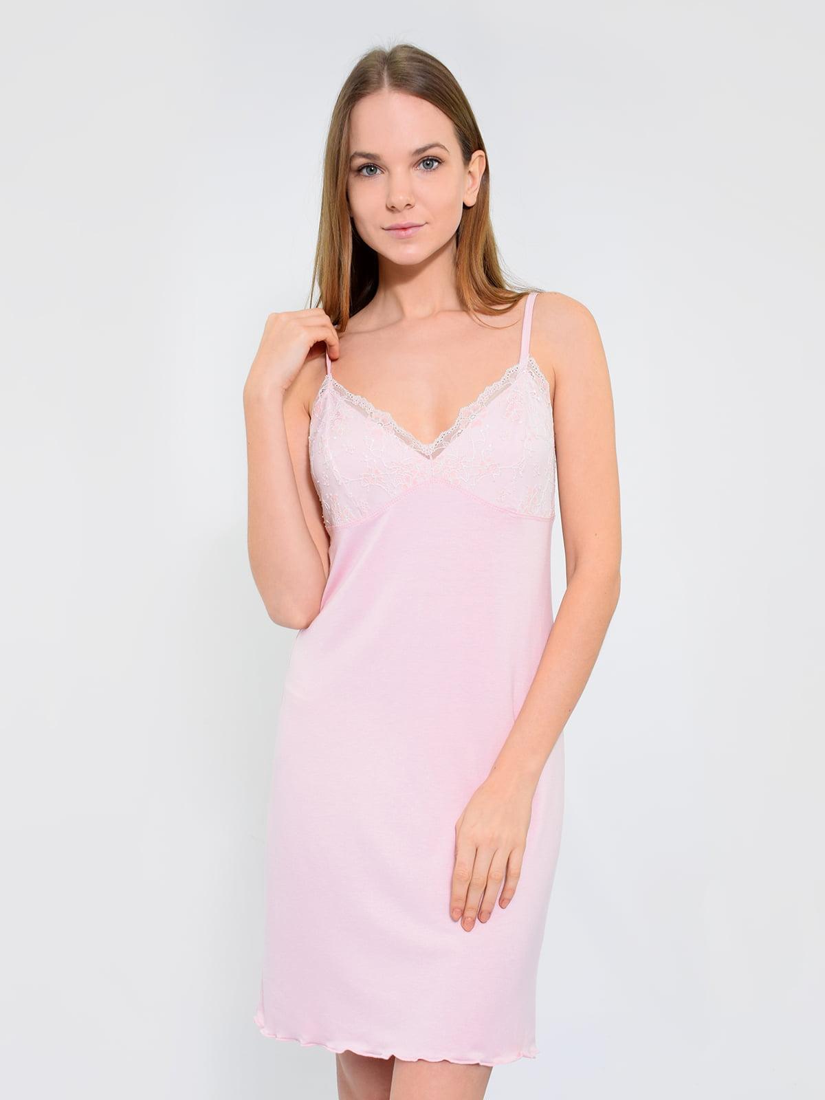 Сорочка нічна світло-рожева | 5431305