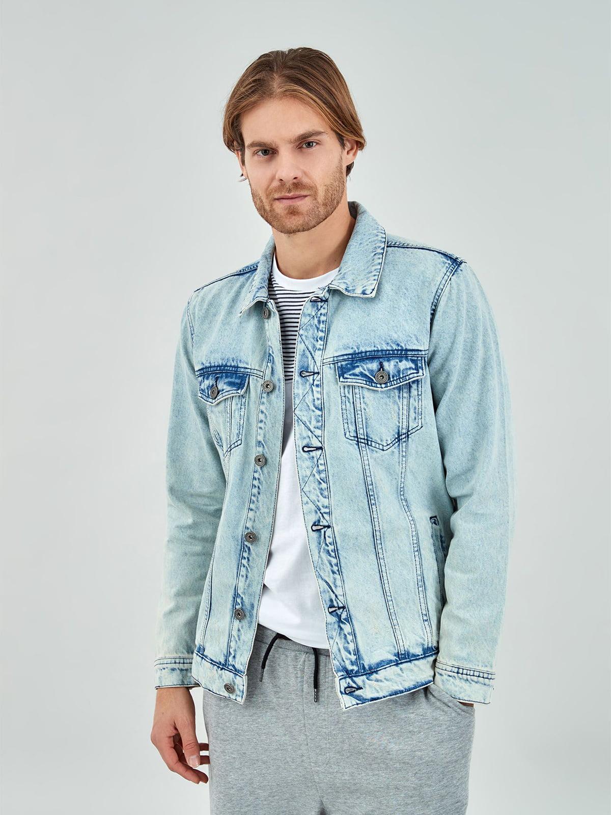 Куртка джинсовая голубая   5436641
