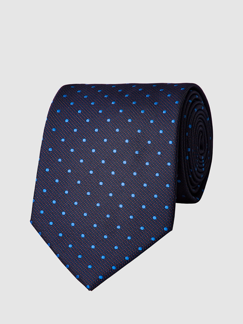 Галстук темно-синий в крапинку | 5444490