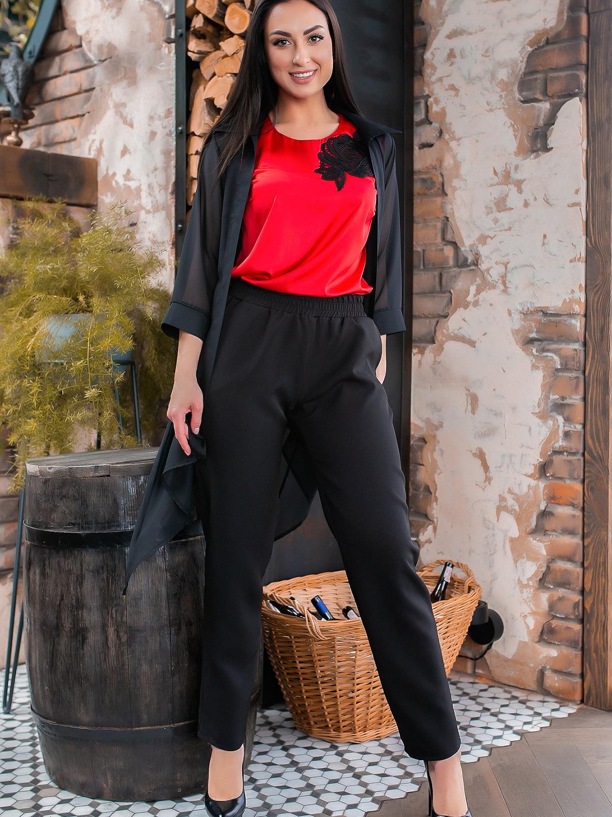 Костюм: кардиган, блуза и брюки | 5445290