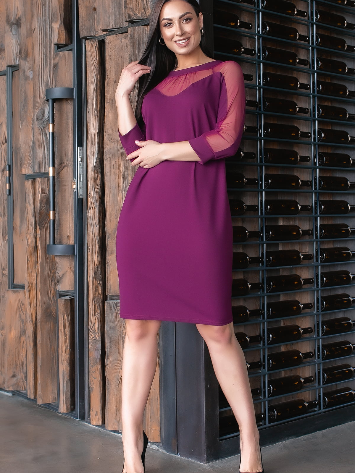 Платье цвета марсала | 5445317