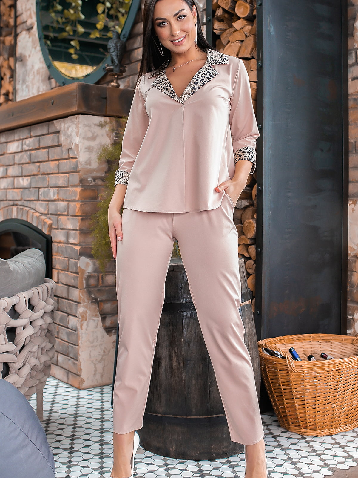 Костюм: блуза и брюки   5445326