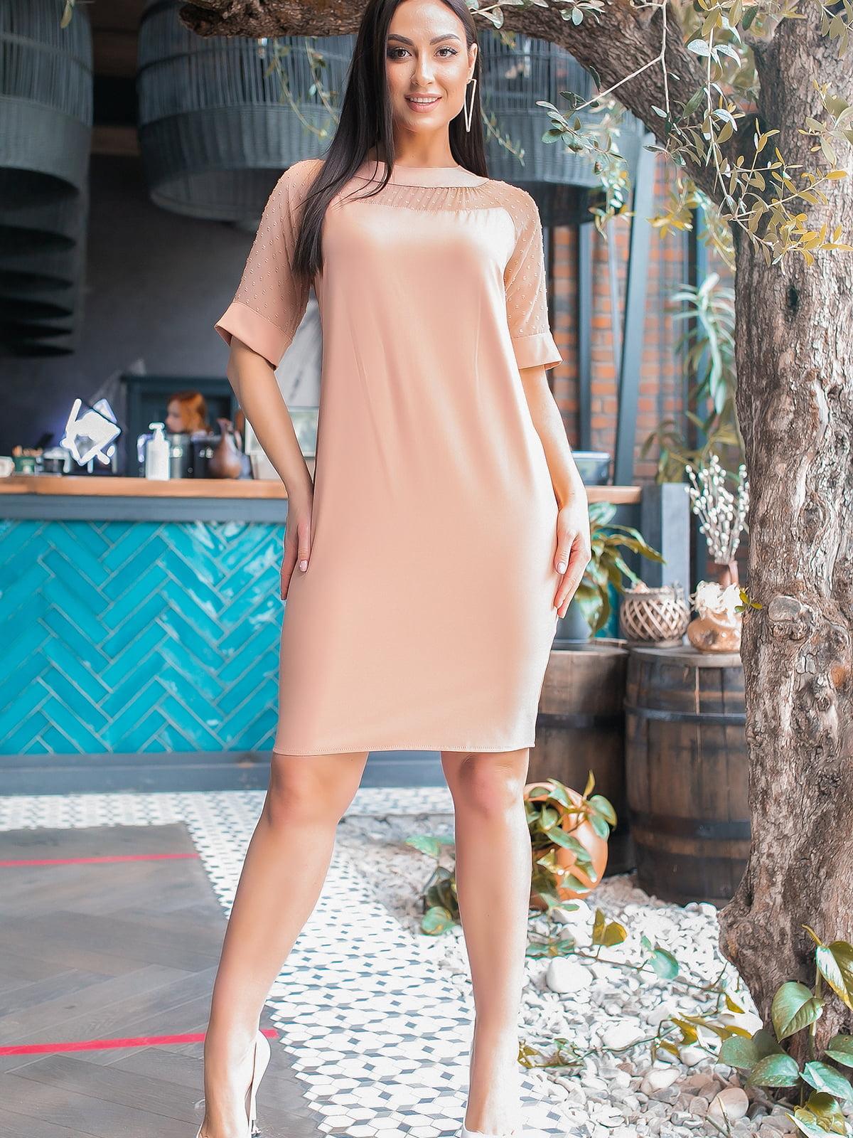 Сукня бежевого кольору | 5445335