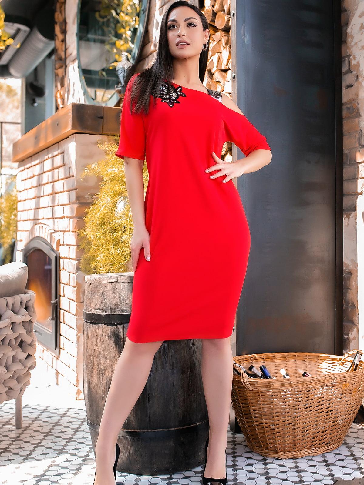 Платье красного цвета | 5445338
