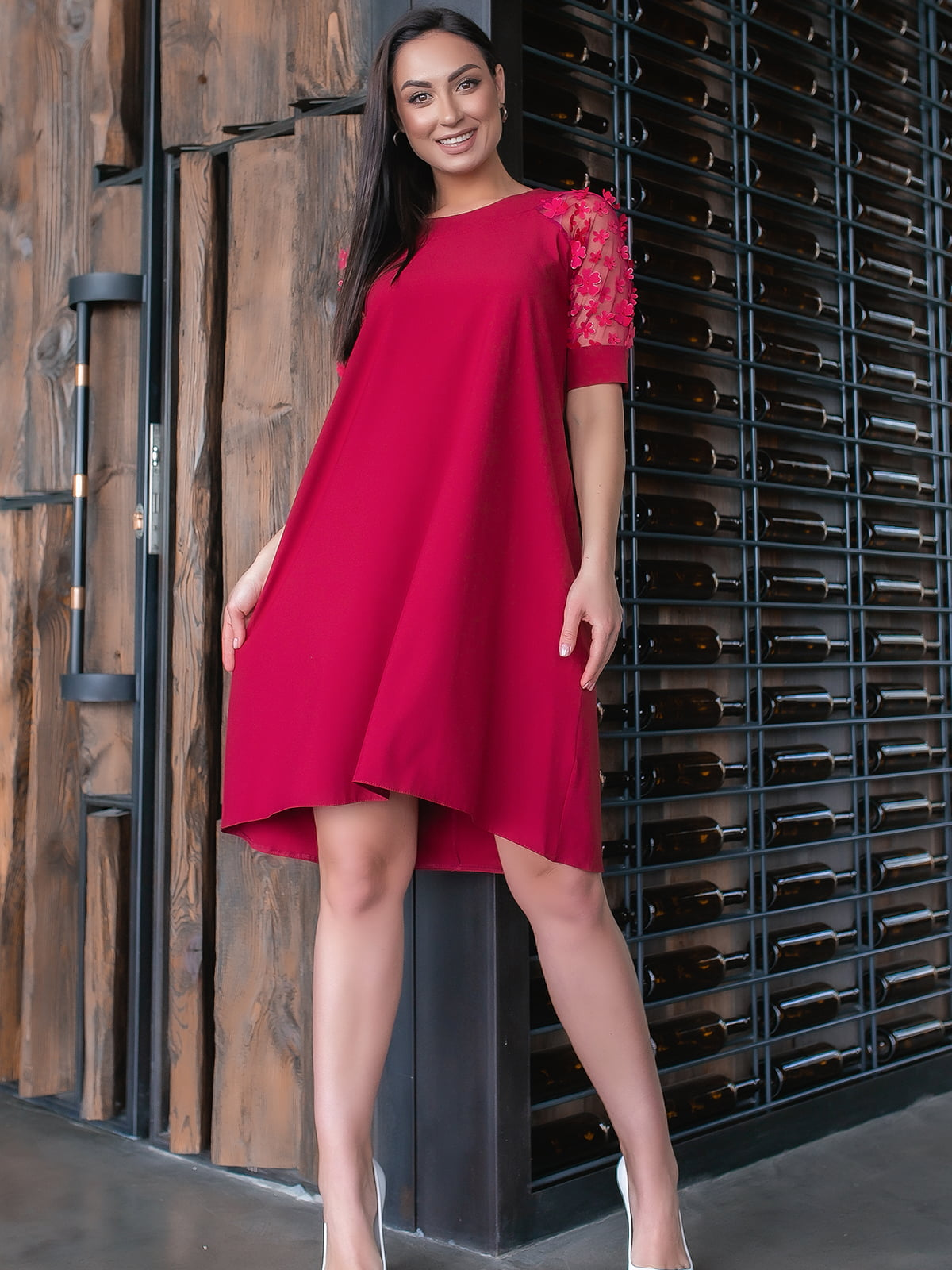 Платье бордового цвета | 5445347