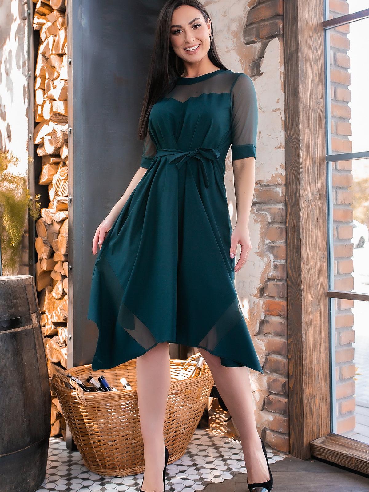 Сукня темно-зеленого кольору | 5445358