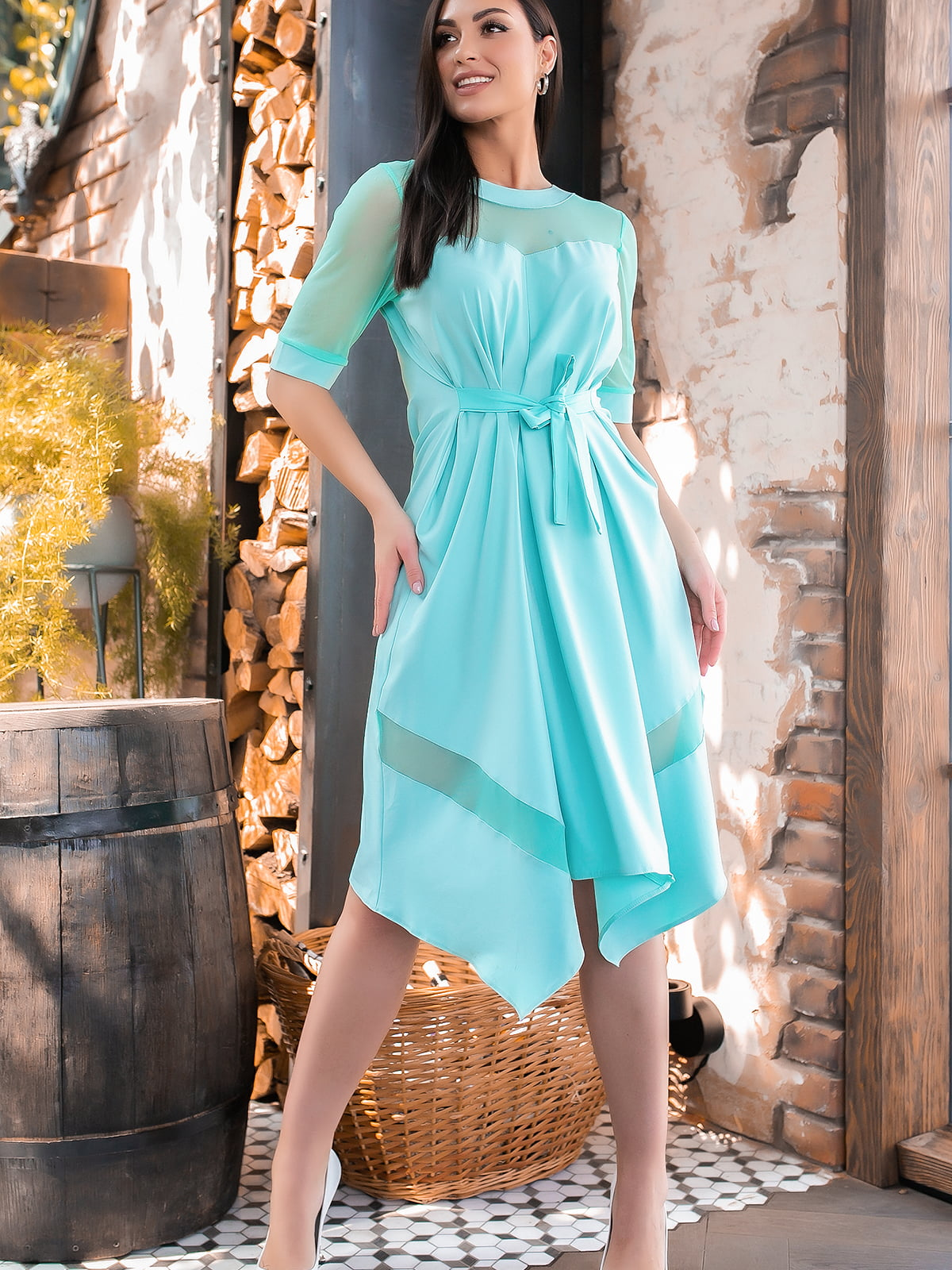 Сукня кольору м'яти | 5445360