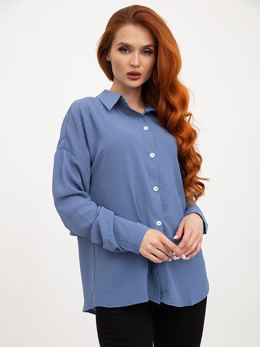 Блуза джинсового цвета   5445441