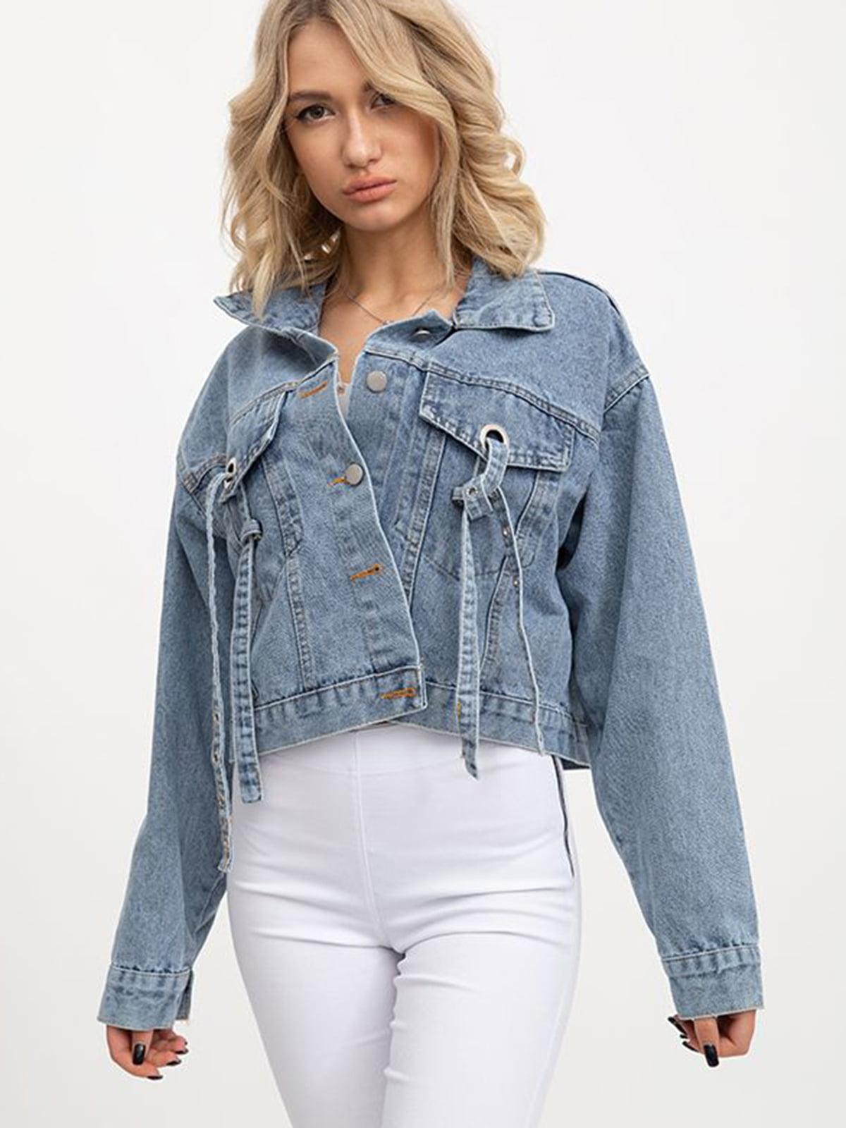 Куртка джинсовая синяя   5445526