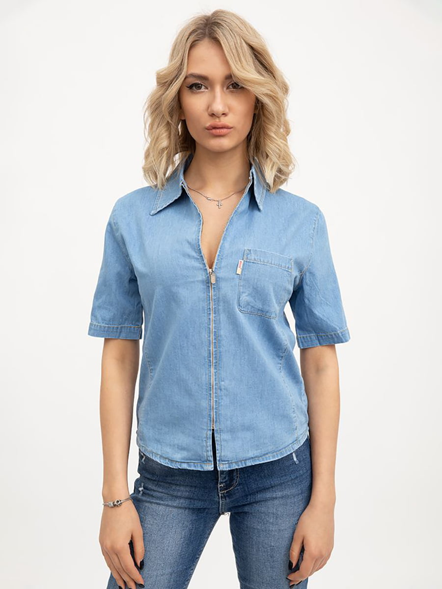 Рубашка голубого цвета | 5445530