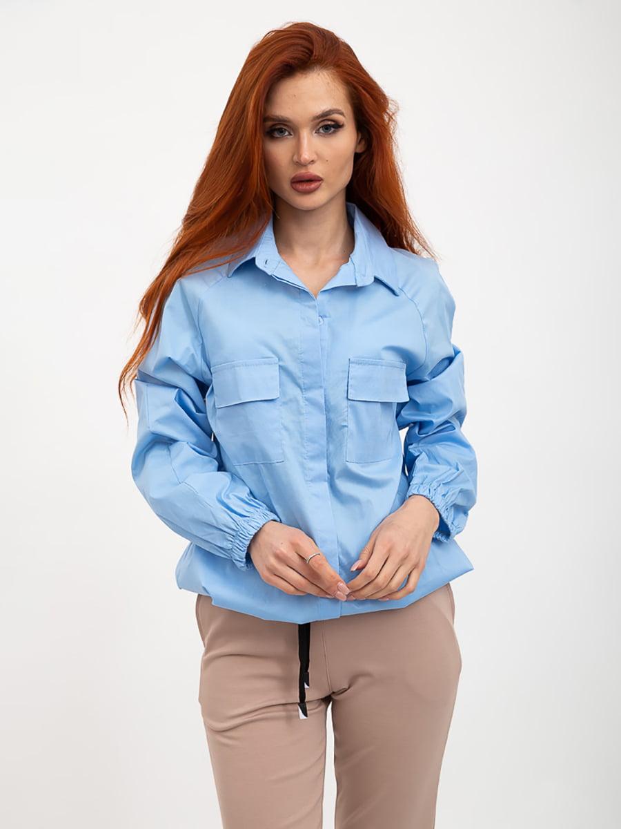 Рубашка голубого цвета | 5445613