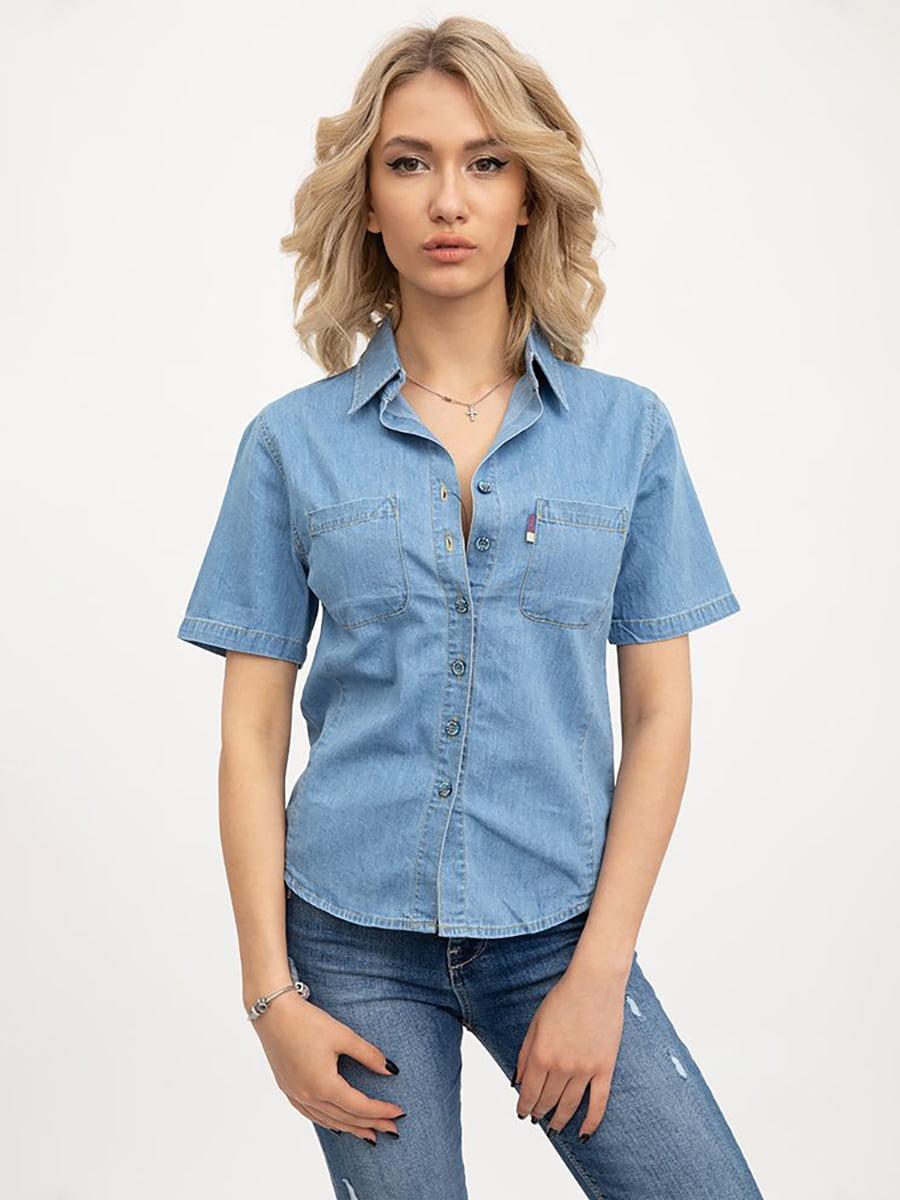 Рубашка голубого цвета | 5445618