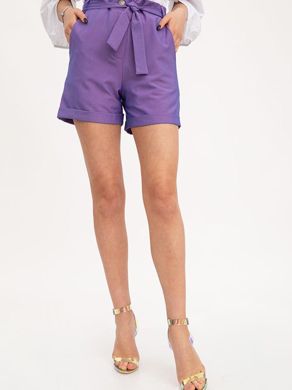 Шорты фиолетового цвета | 5445765