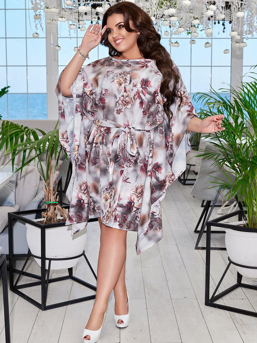 Платье с цветочным принтом | 5447089