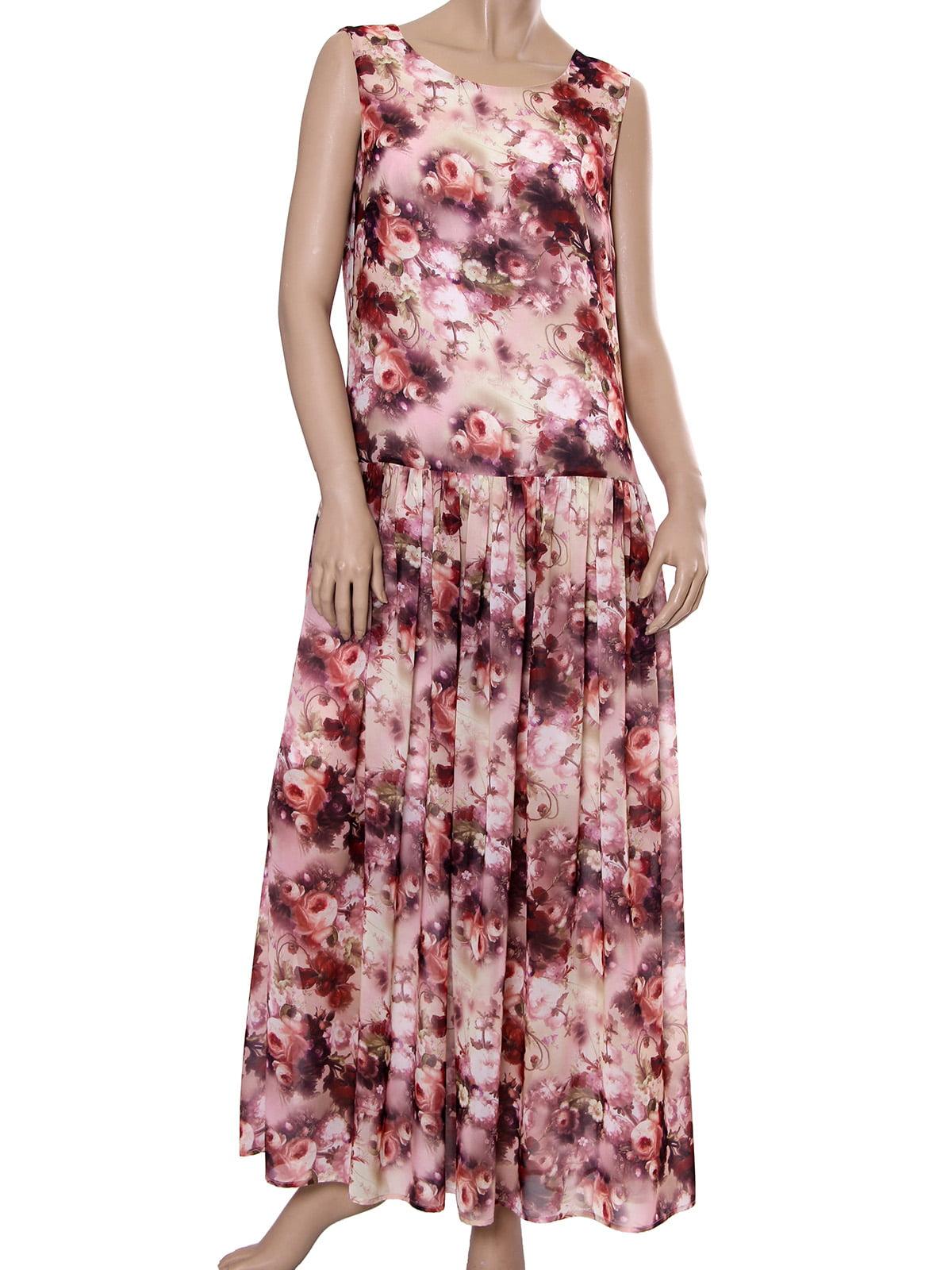 Платье вишневого цвета с принтом   5447816