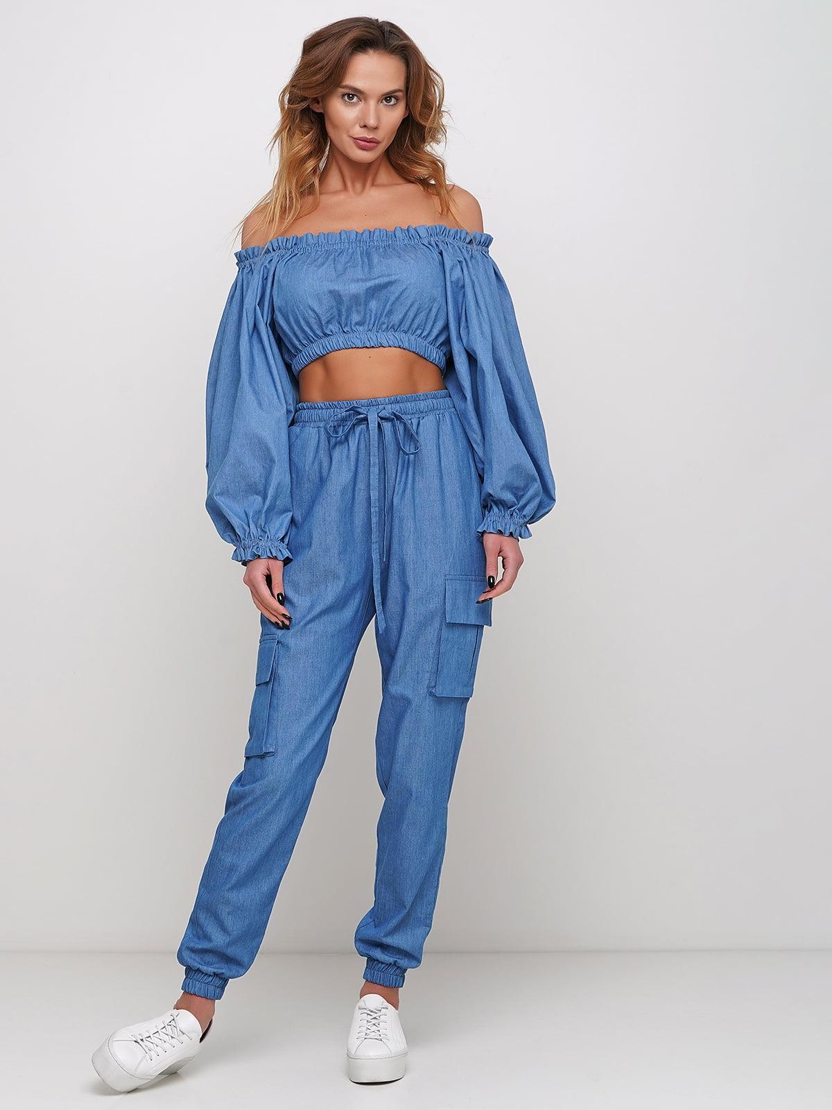 Блуза синяя   5430724