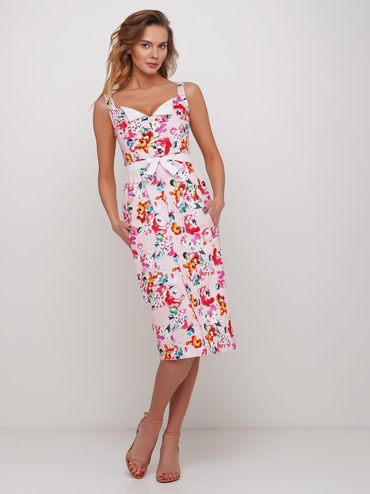 Платье розовое с цветочным принтом | 5448766