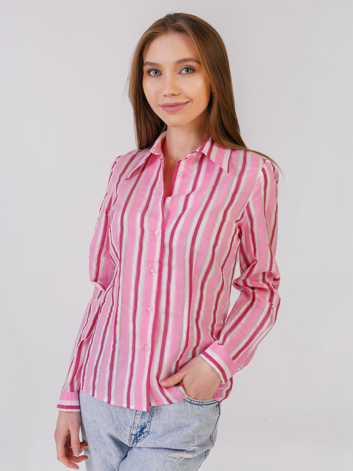 Рубашка розовая в полоску | 5441564