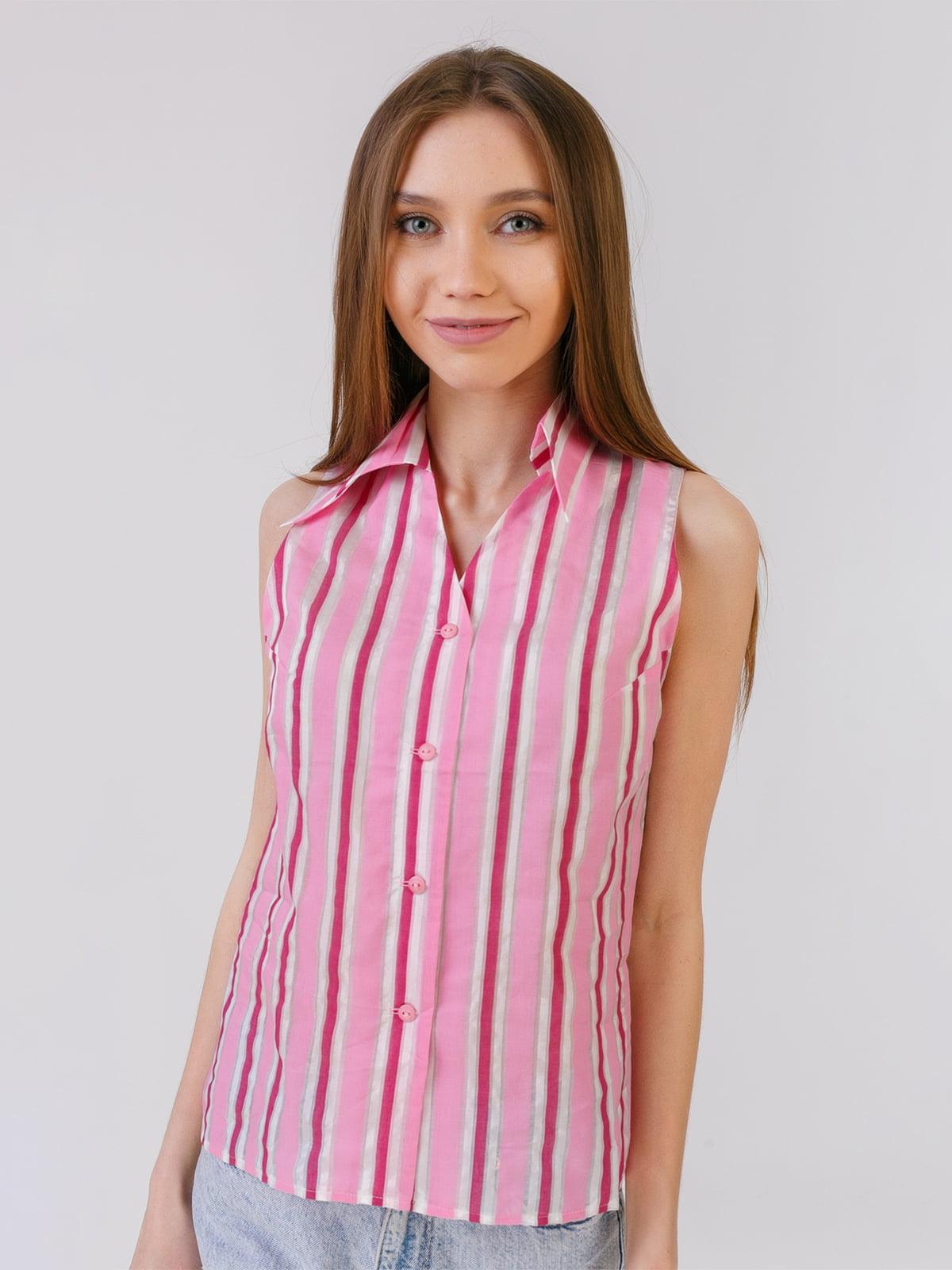 Сорочка рожева в смужку   5441565