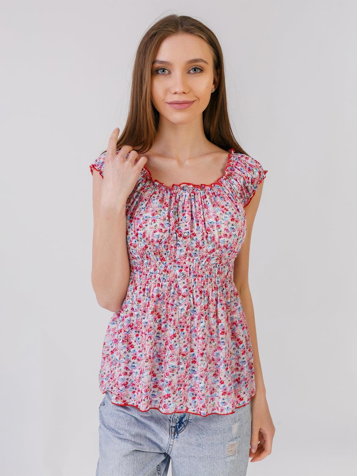 Блуза в квітковий принт   5441584