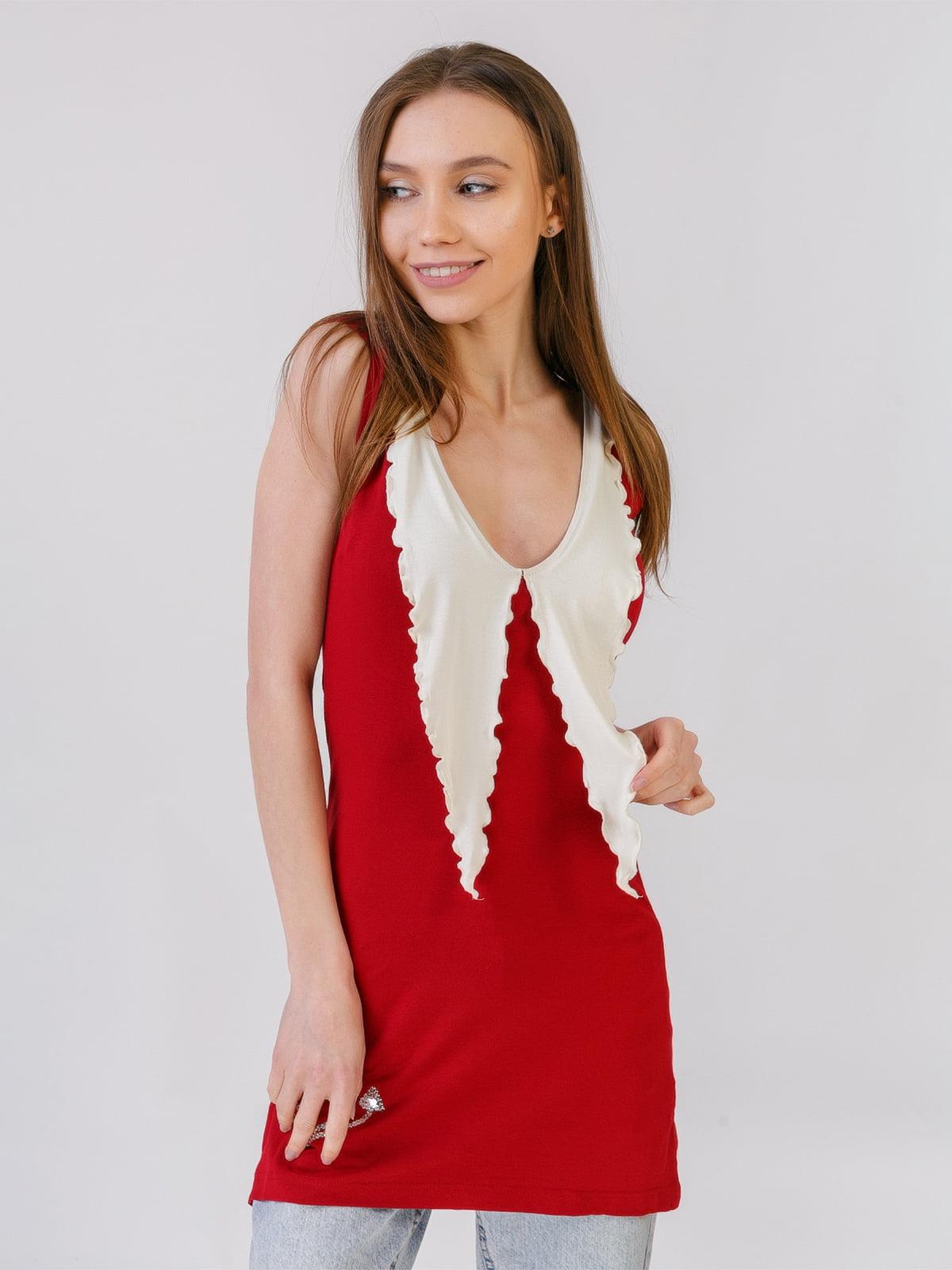 Сукня-туніка бордова | 5441594