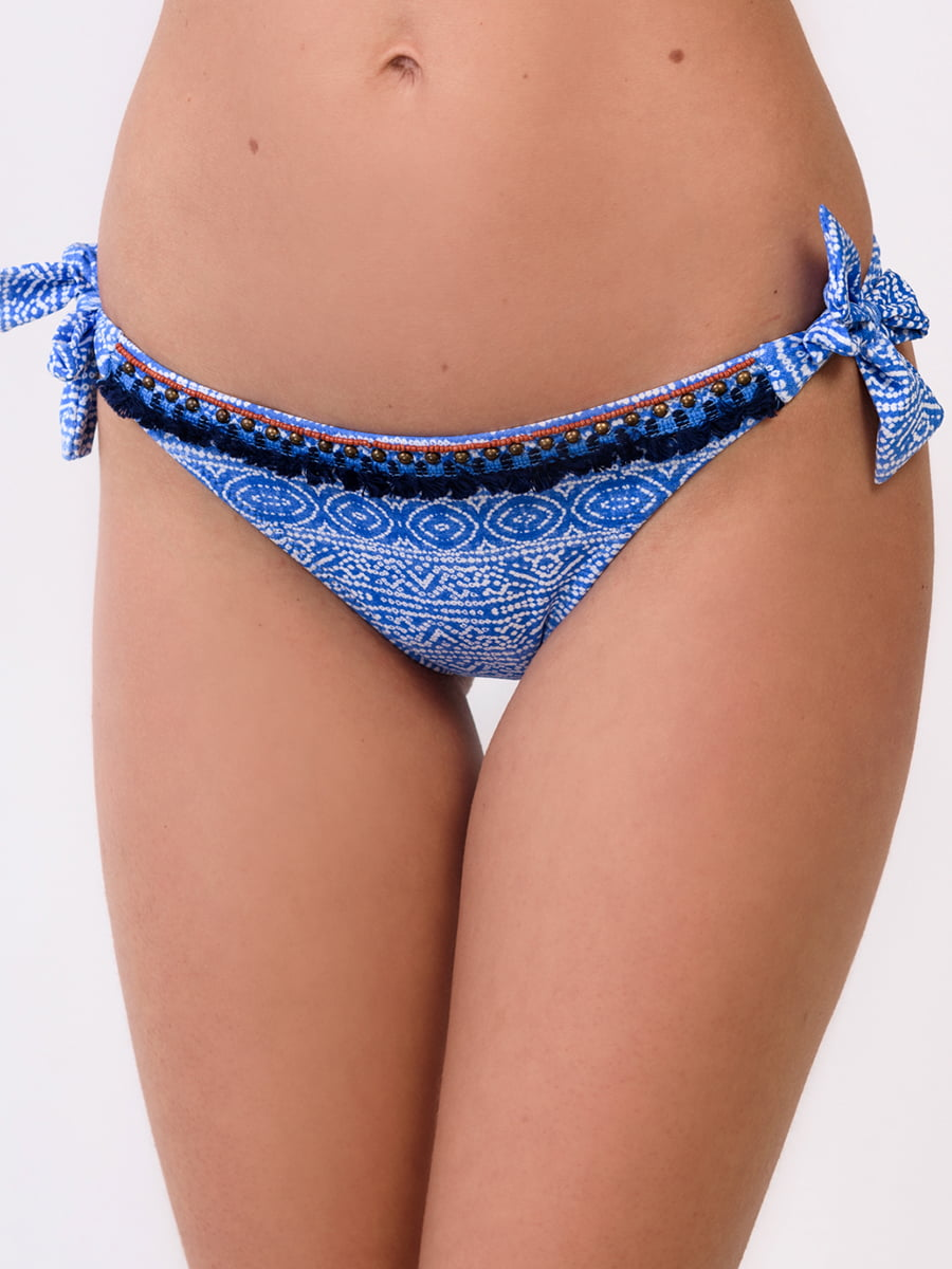 Труси купальні блакитного кольору з принтом | 5451430