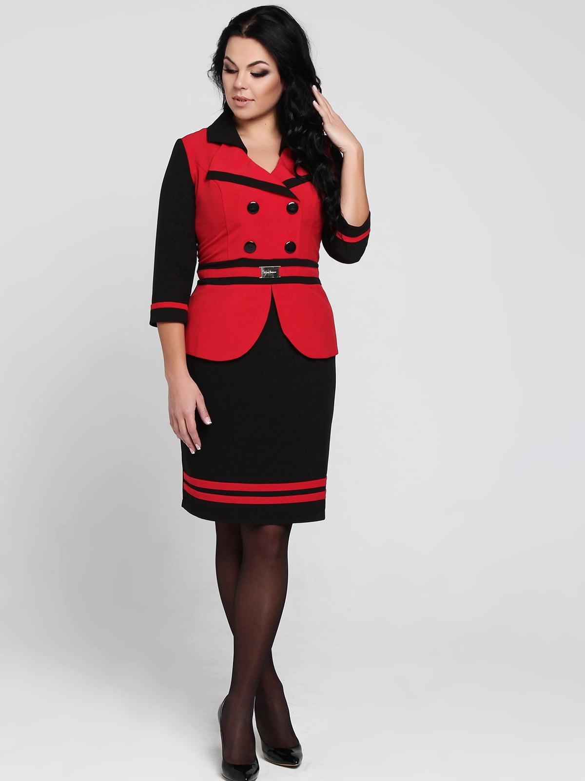 Сукня чорно-червона | 5455395