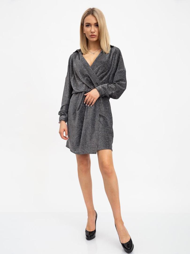 Платье серебристое | 5456590