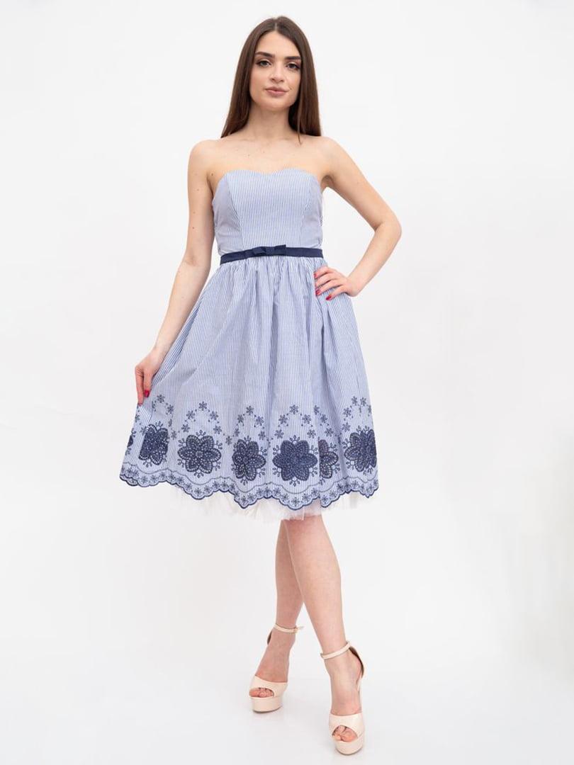 Платье бело-синее | 5456599