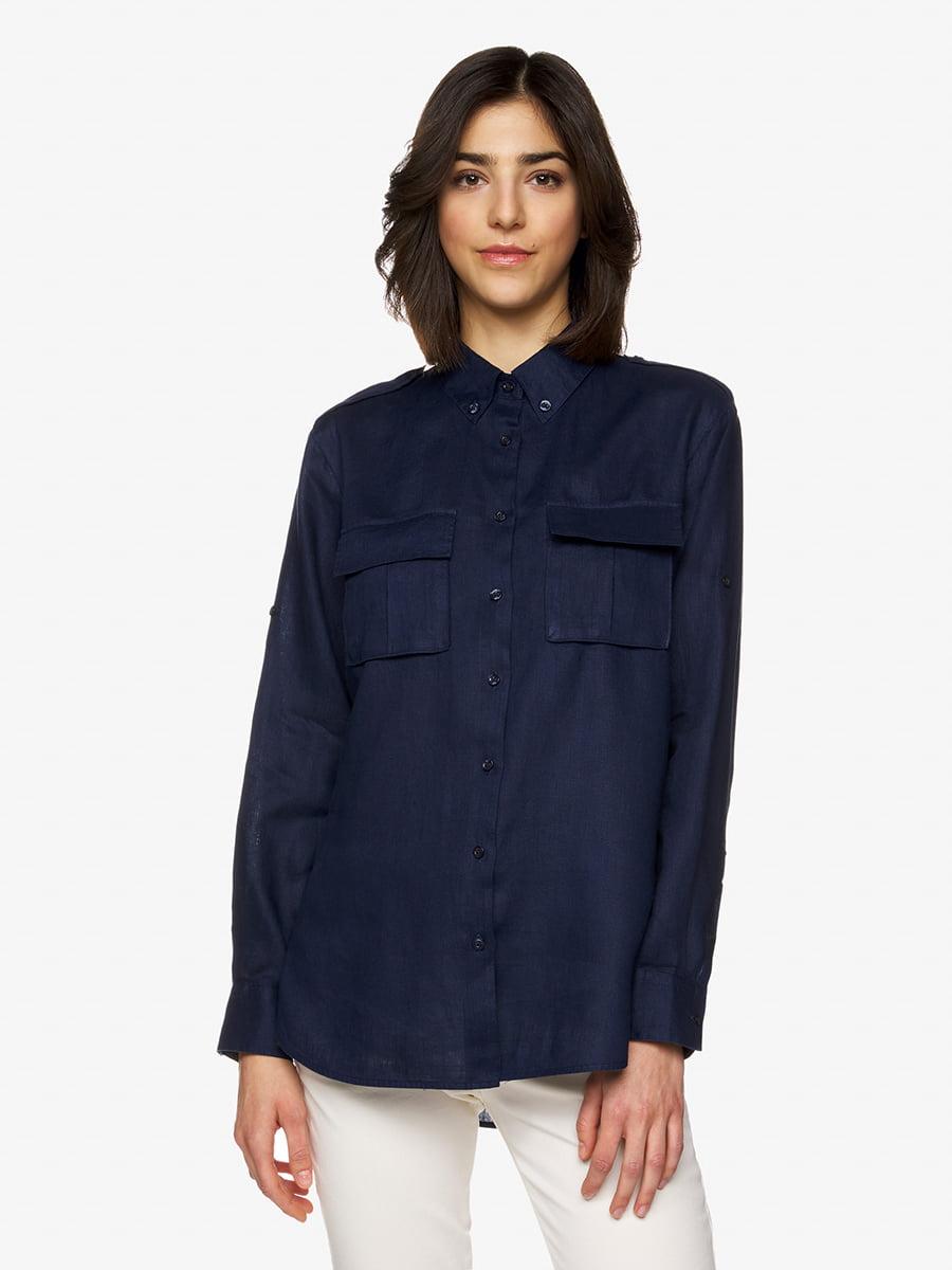 Рубашка темно-синяя   5456485