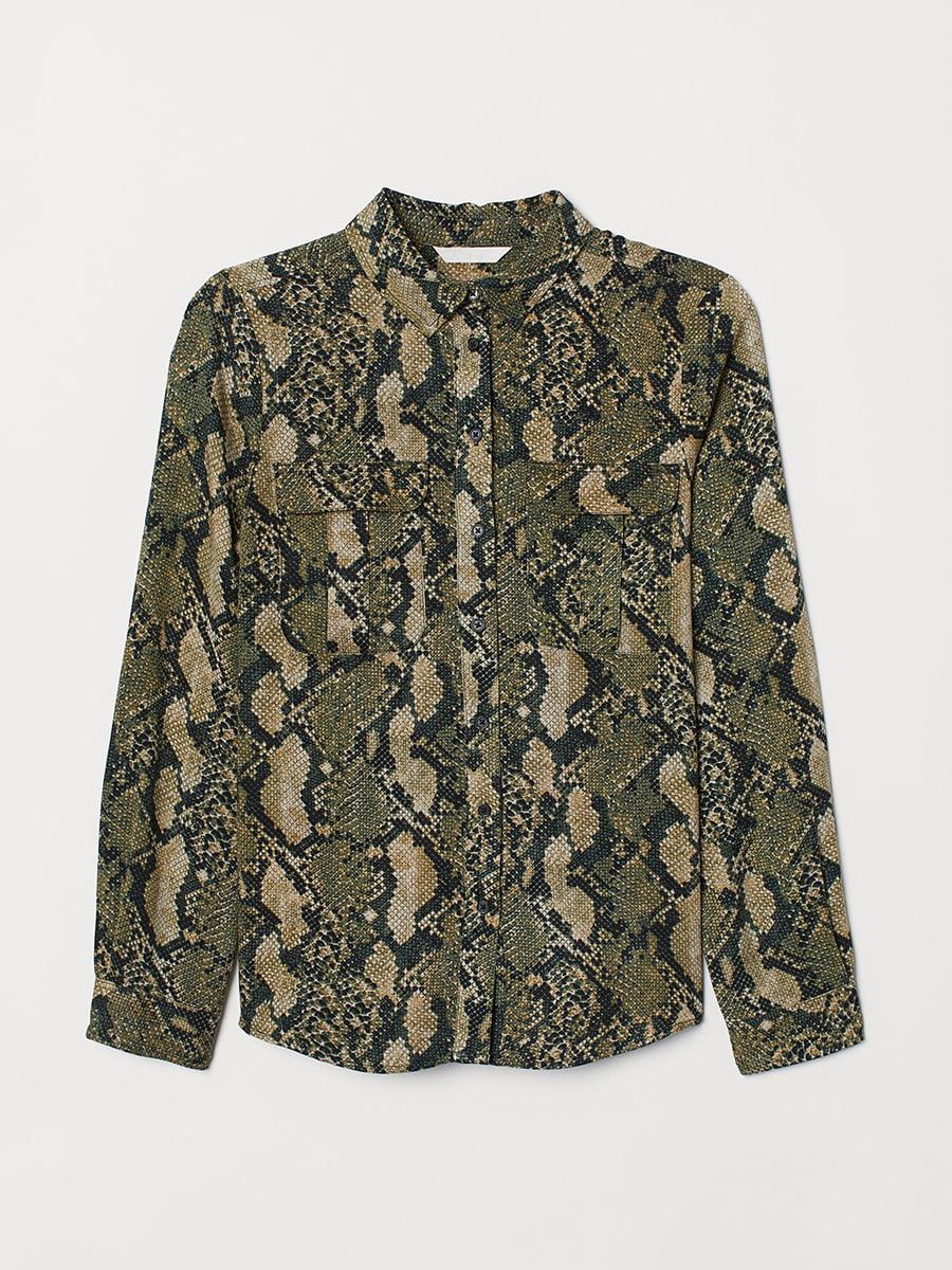 Блуза в змеиный узор | 5388974