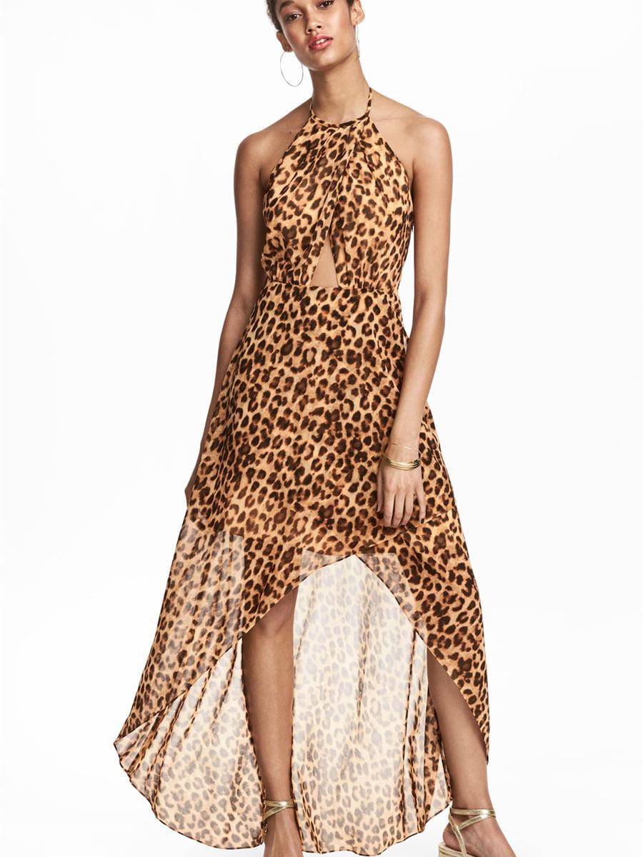 Платье в леопардовый принт   5449931