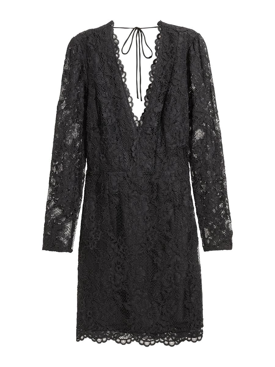 Платье черное с кружевом   5457071