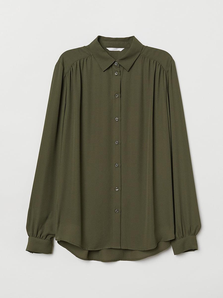 Блуза цвета хаки | 5457216