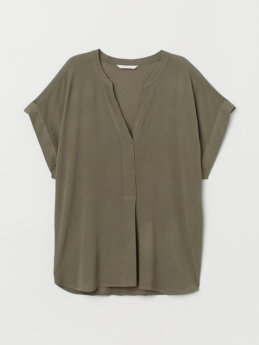 Блуза цвета хаки | 5457344