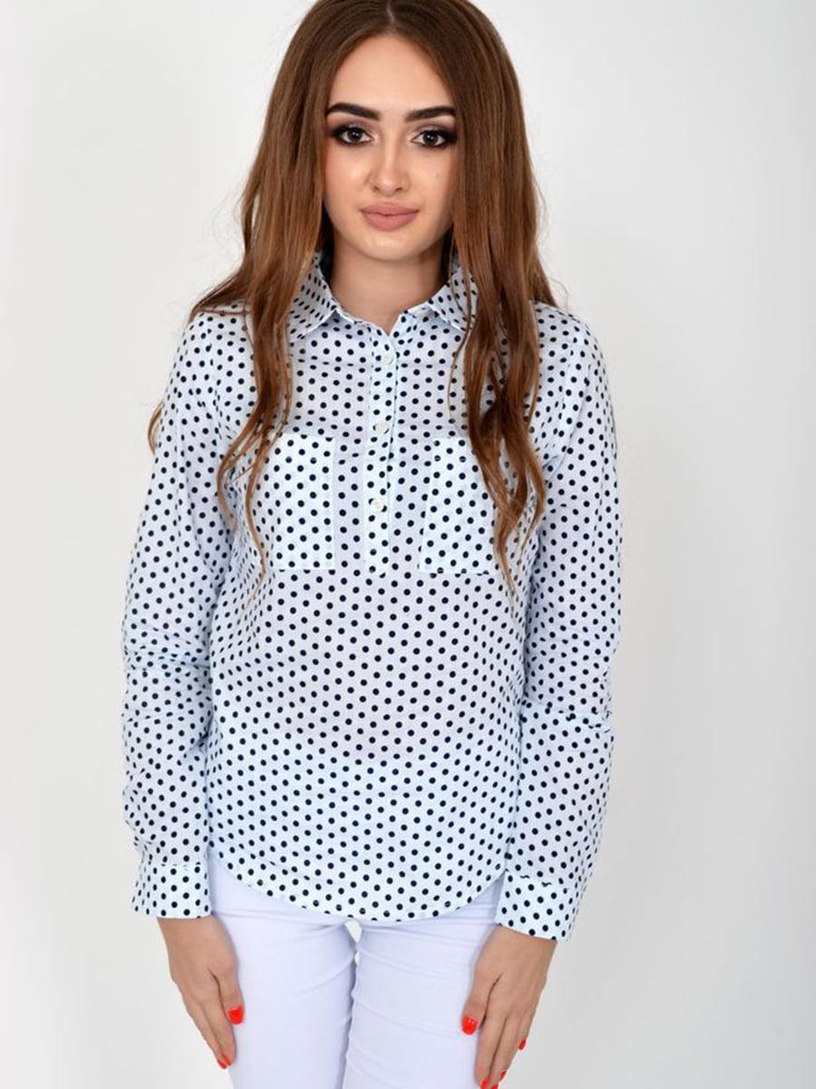 Блуза белая в горошек | 5461661