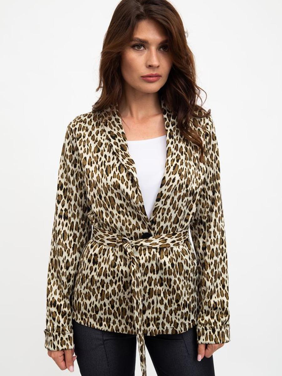Жакет бежевый в леопардовый принт   5461772