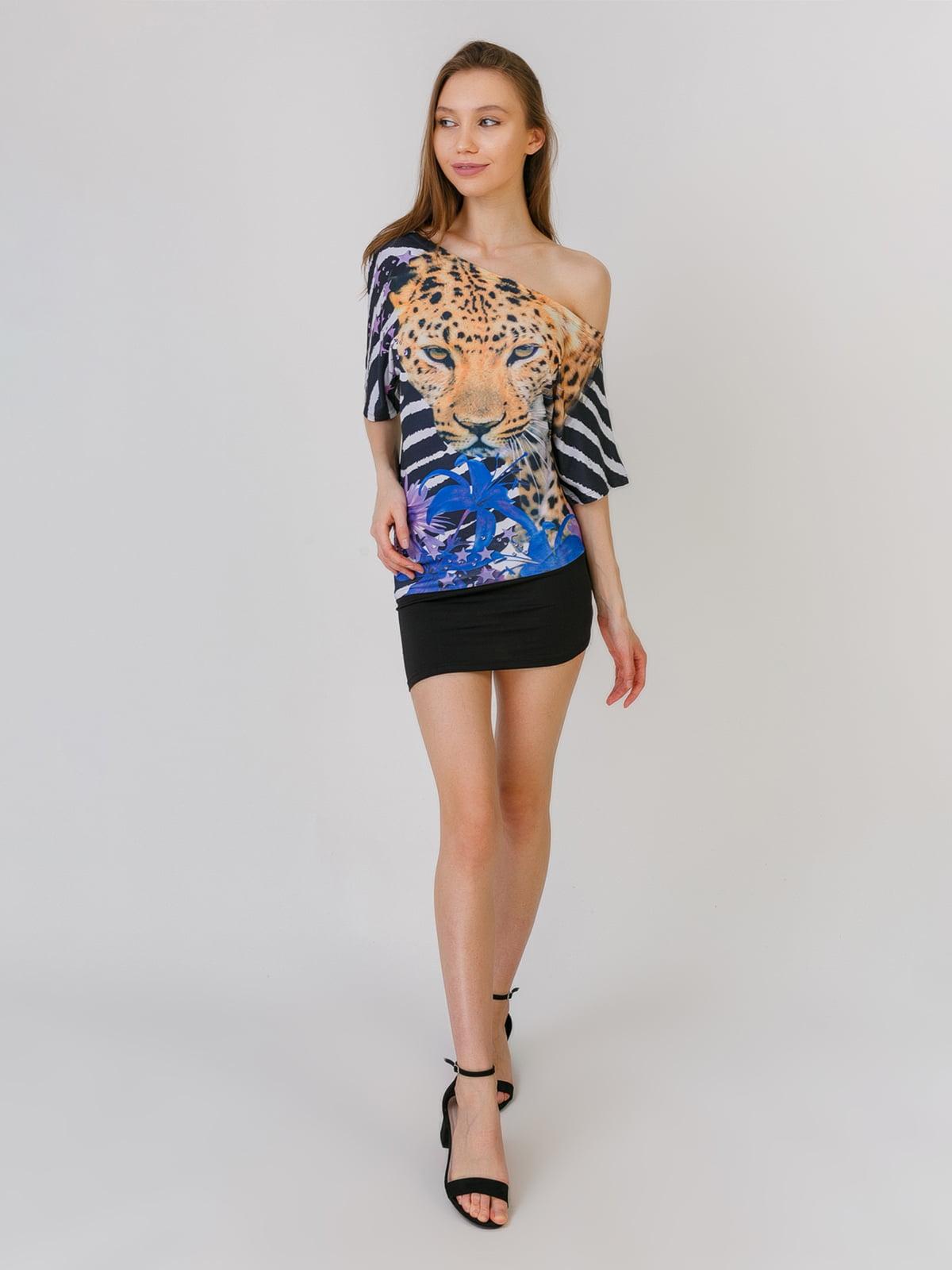 Платье разноцветное в принт | 5461131