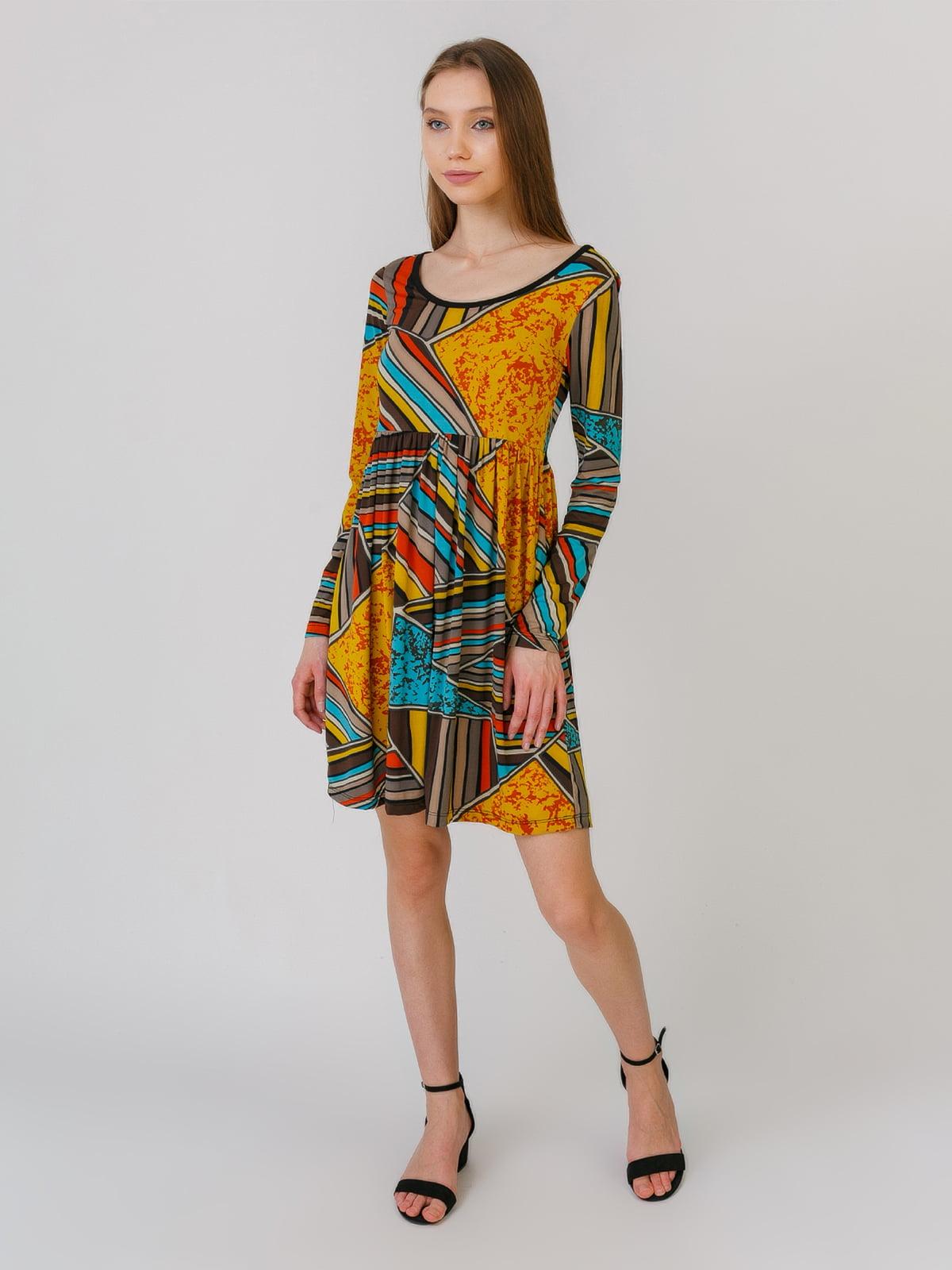 Платье разноцветное в принт | 5461127
