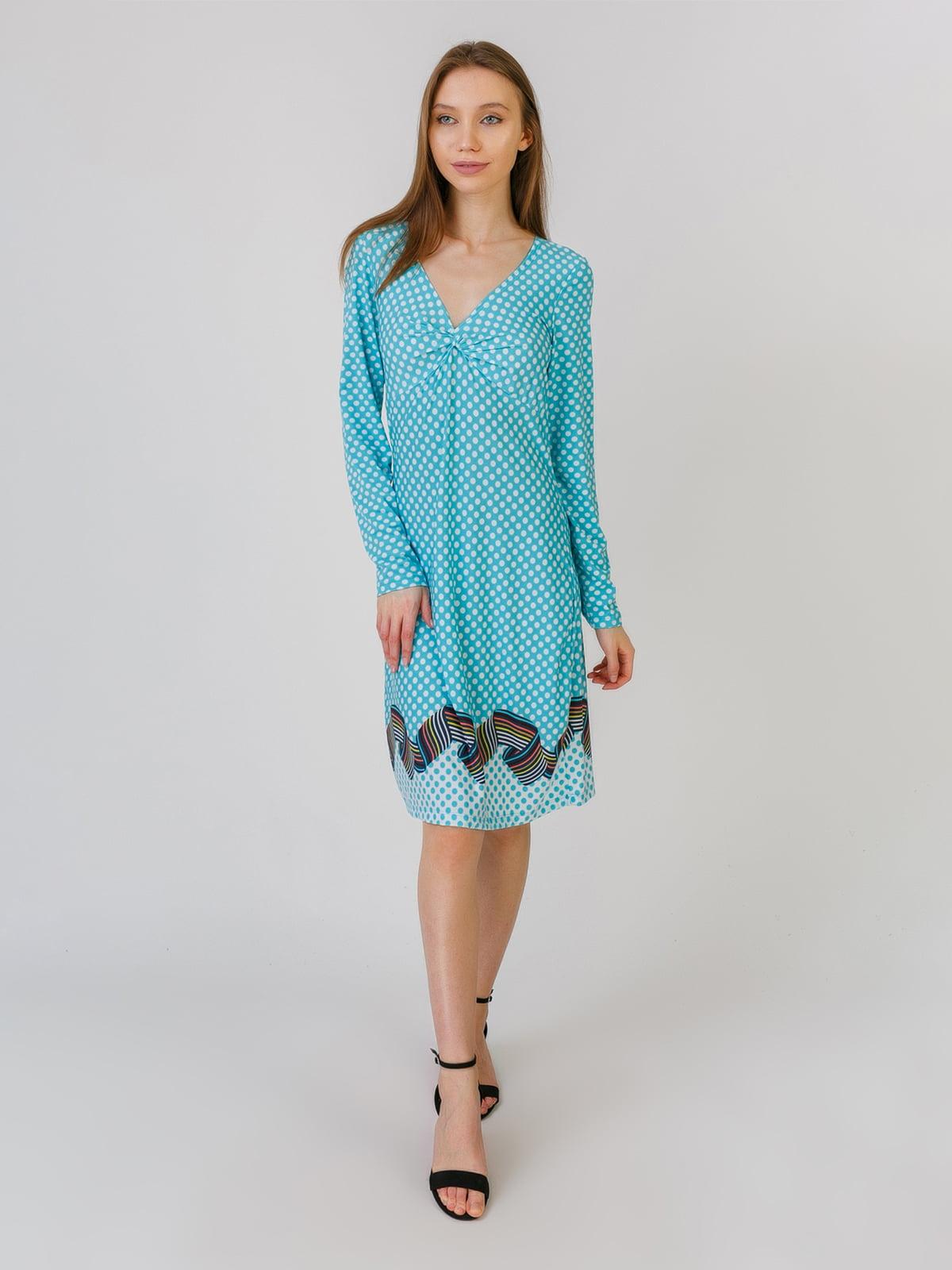 Платье мятного цвета с принтом | 5461117