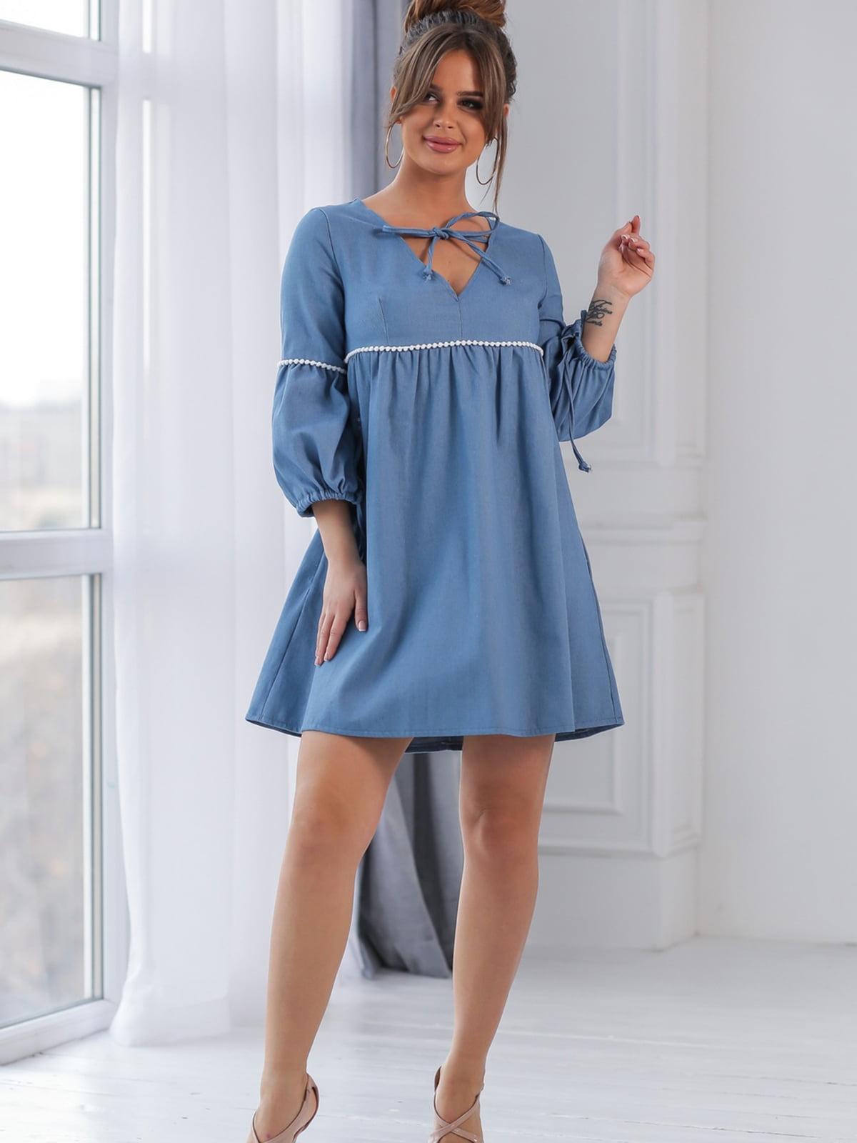 Платье цвета джинс | 5464329