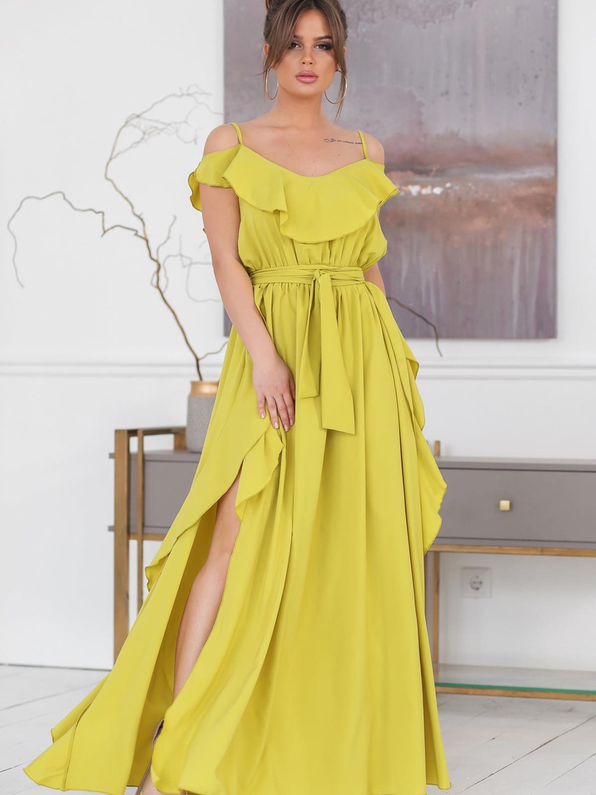 Сукня лаймового кольору | 5464332