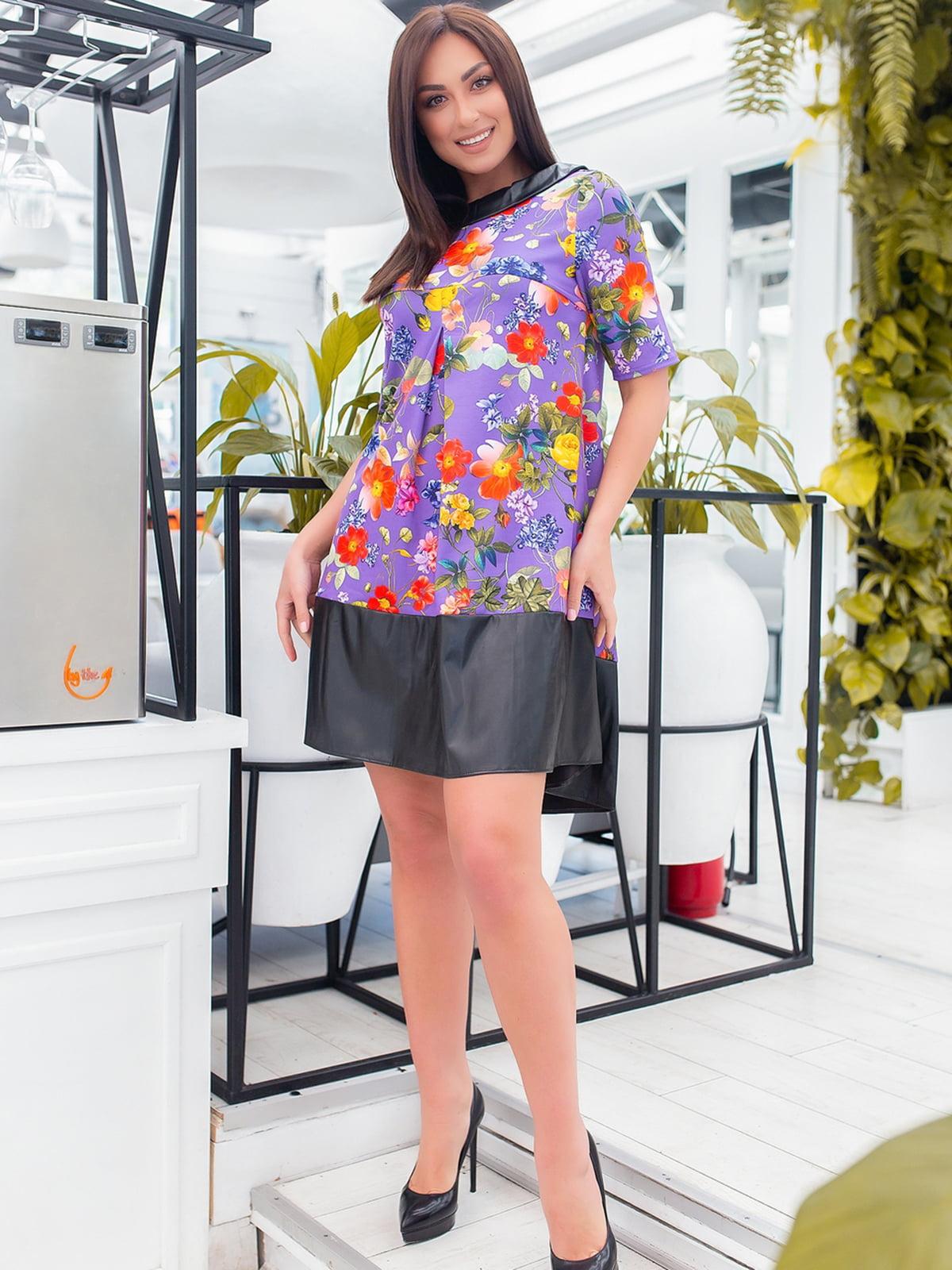 Платье фиолетовое в цветочный принт   5464412