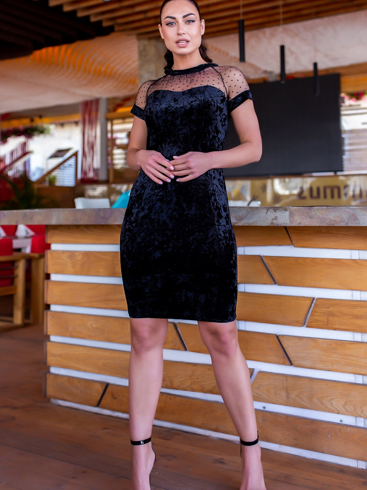Сукня синя в горошок   5464113