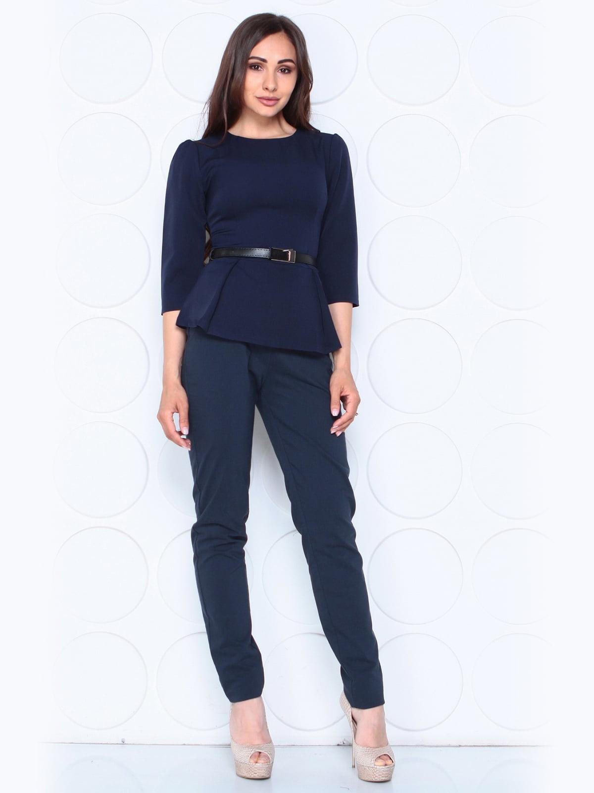 Блуза темно-синя | 5117081