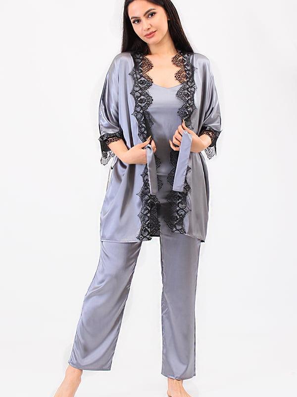 Піжама: топ, халат та штани   5473448