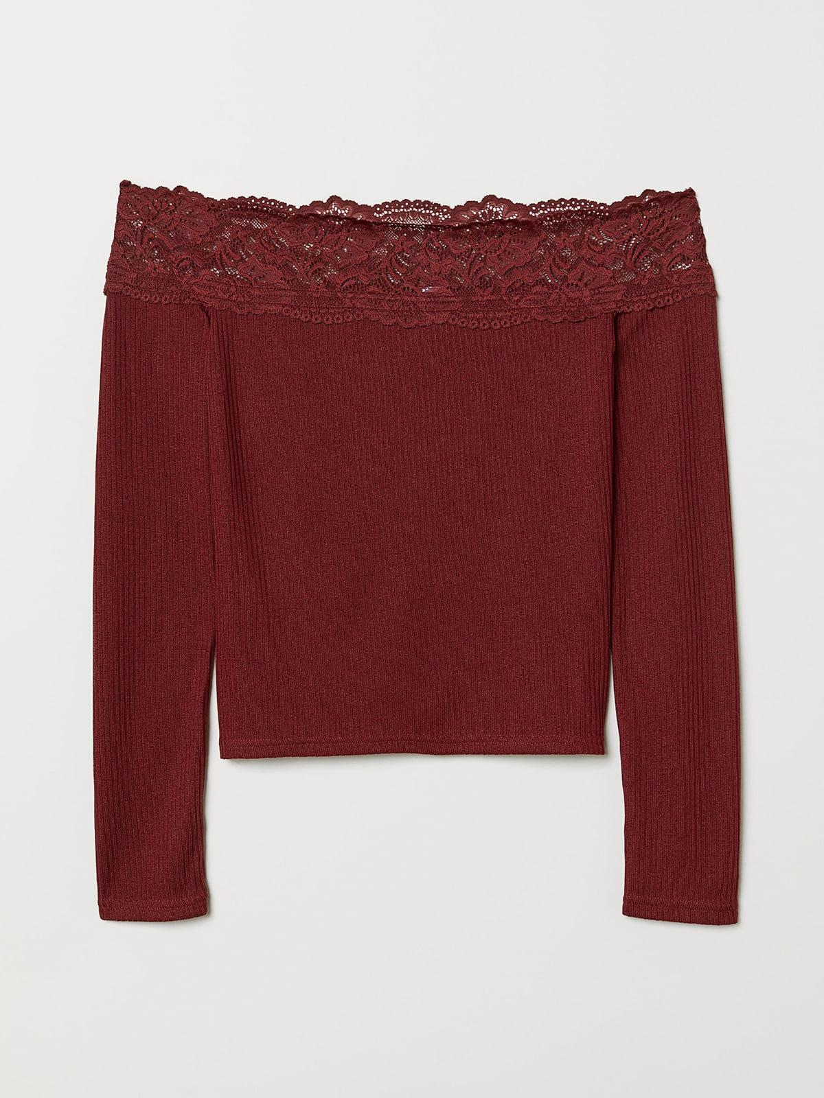 Блуза бордовая | 5474585