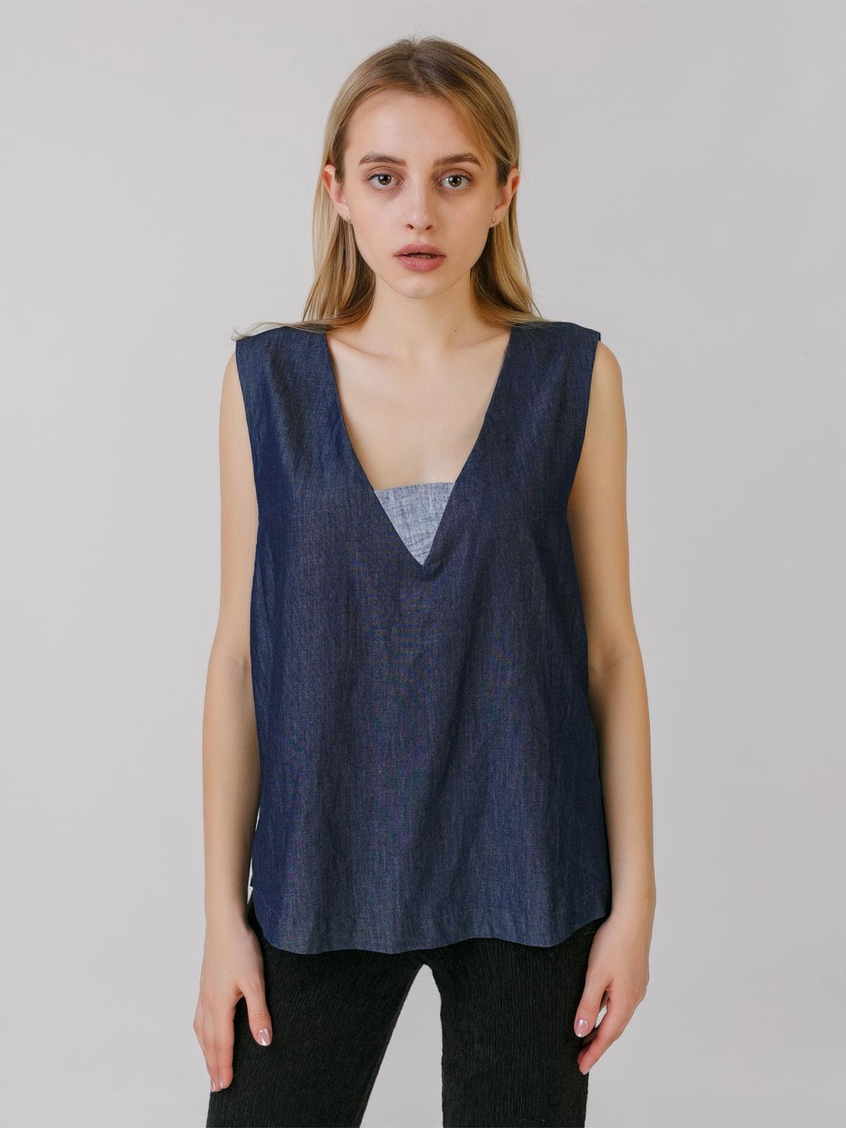 Блуза джинсового цвета   5464546